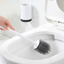 Держатель для туалетной щетки TPR, держатель для туалетной щетки, держатель для инструментов для чистки ванной комнаты с щеткой