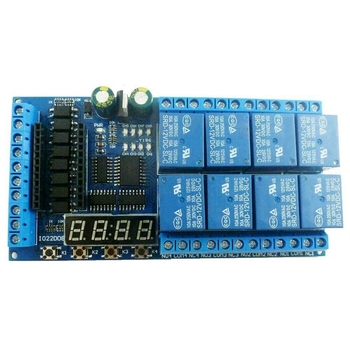 DC 12V 8 Channel Pro Mini PLC Relay Board Relay Shield Module for Arduino Delay Timer Switch for Arduino фото