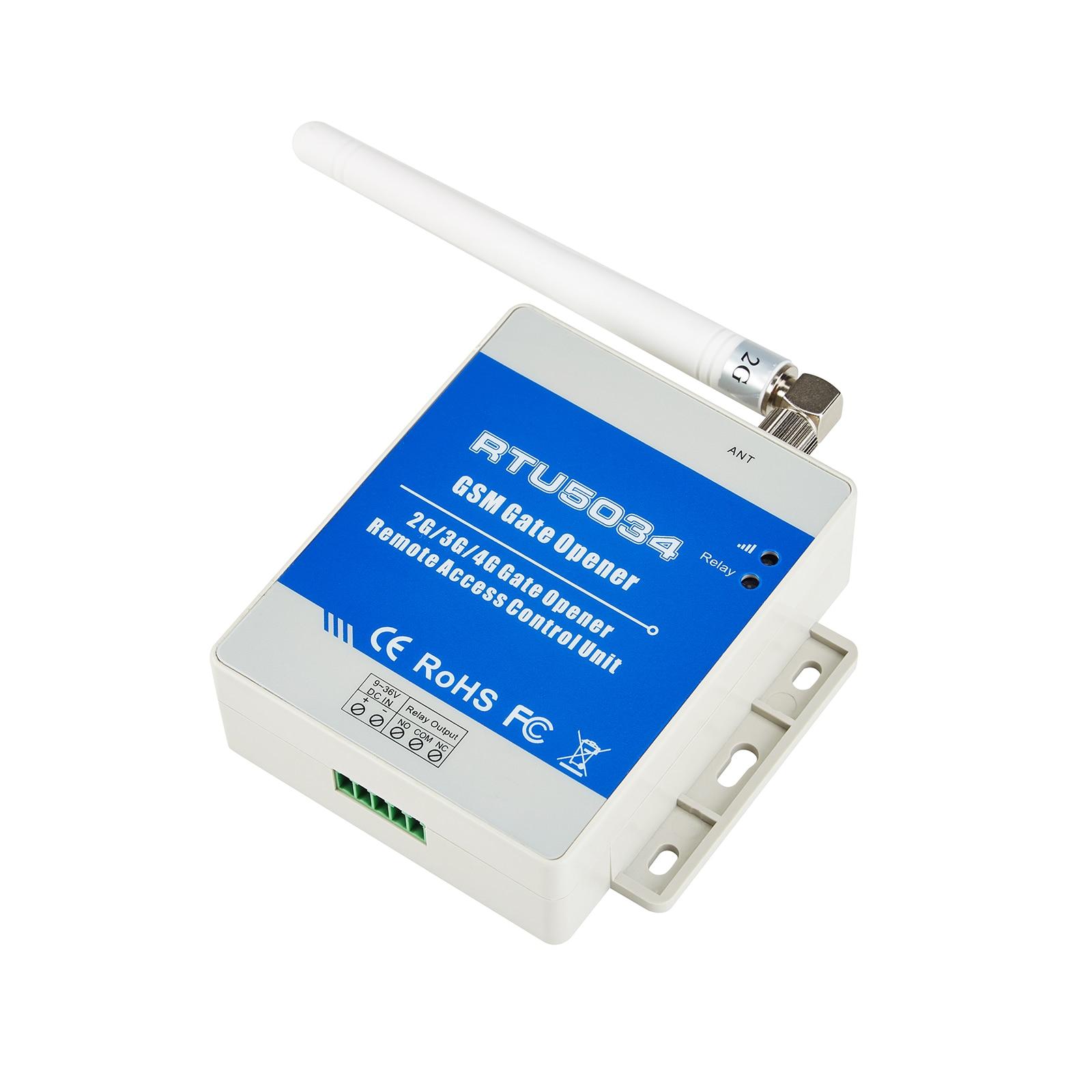 GSM Gate Opener Automatic Door Opener GSM Remote Switch RTU5034 for Security Door Access Control for Automatic Door Opener