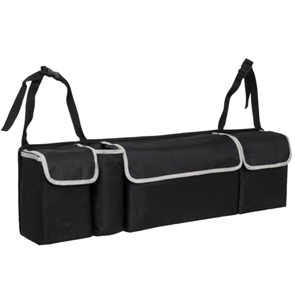 Tidy Storage Trunk Car-Boot-Organiser Oxford Universal Foldable 4-Pockets Hanging Black