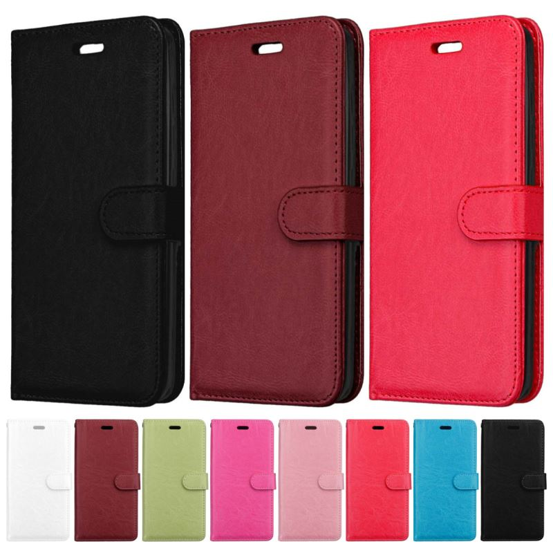 Cover For Bags LG Stylo 4 G7 Thinq K9 K11 K8 2018 K10 2018 EU Version Cute Simple Phone Case Leather Frame Plain Flip Funda D08G