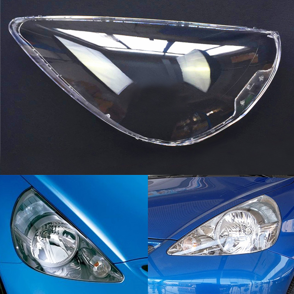Car Headlamp Lens For Honda Fit Jazz Hatchback 2003 2004 2005 2006 2007 Car Headlight  Replacement  Auto Shell Cover