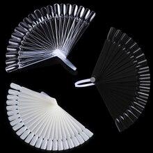 32/24/12 stücke Falsche Nagel Tipps Fan Shaped Farbe Palette Karte Display Praxis Sticks Nagel Stil Farbfelder Nail art display Regal