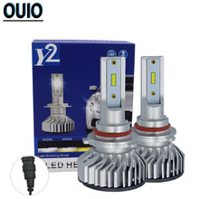 F2 CSP Led Car Headlight Bulbs 6000K 8000LM H4 Led H1 H7 H3 H8 H9 H11 880 881 9005 9006 9012 Fog Lamp 35W 12V Automotive Lights(China)