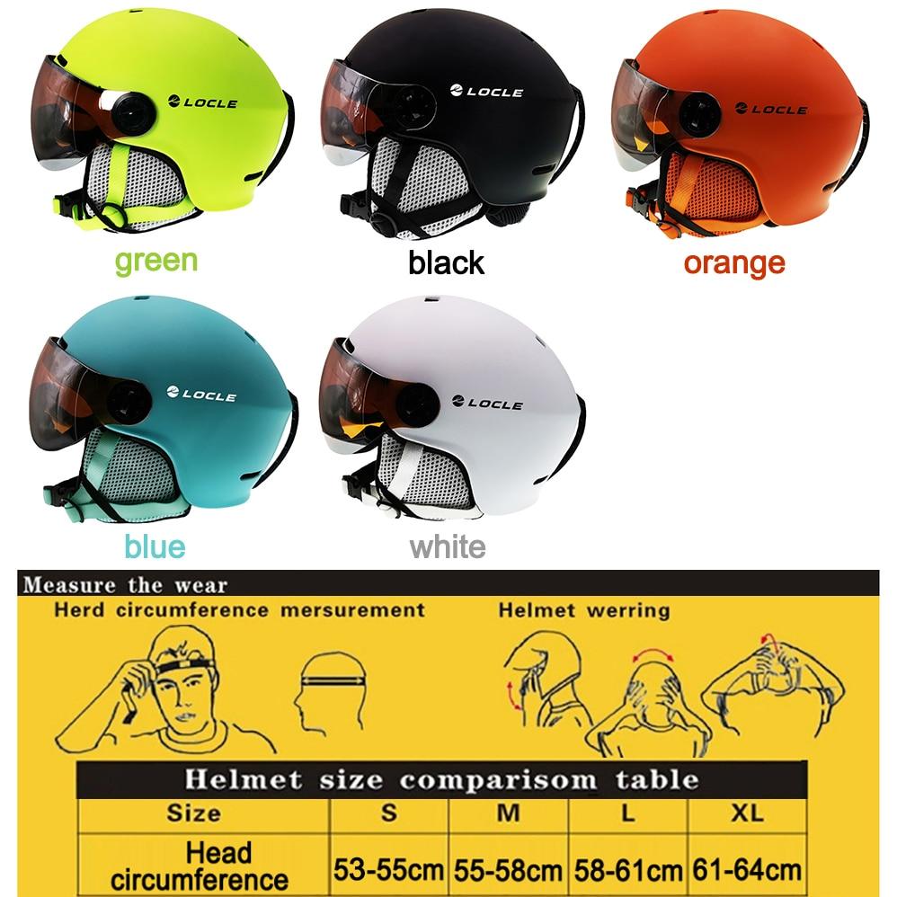 LOCLE лыжный шлем очки козырек для мужчин и женщин сноуборд шлем мото снегоход скейтборд защитный шлем маска зимний теплый флис