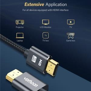 Image 3 - Vothoon 4K HDMI 케이블 HDMI HDMI 2.0 HDR 4K 60Hz 케이블 TV LCD 노트북 프로젝터 컴퓨터 PS4 TV 1m 2m 3m HDMI 케이블