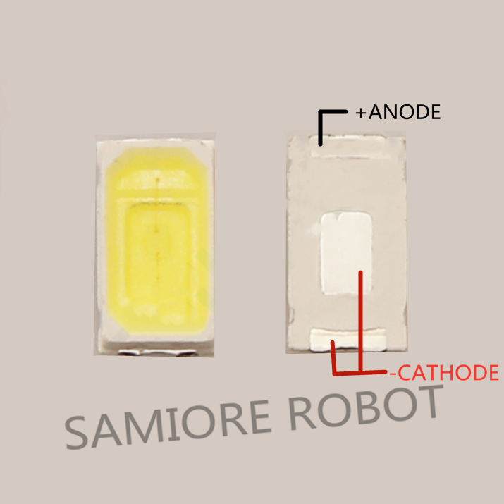 100 шт. SMD СВЕТОДИОДНЫЙ 5730 5630 чип 50-55 лм 0,5 Вт Холодный белый 7000K светодиод 0,5 Вт светоизлучающие диодные лампы Высокая яркость SMT бусины