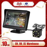 E-ACE 4.3 Inch HD Digital  Color Car Monitor TFT LCD Display Reverse Camera Parking System For Rear View Camera