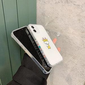 Image 4 - SoCouple śliczne zwierzę żyrafa jasne etui na telefony dla iPhone 11 12 Pro Max X XS XR 12 Mini 7 8 Plus SE przezroczysty miękki TPU okładka