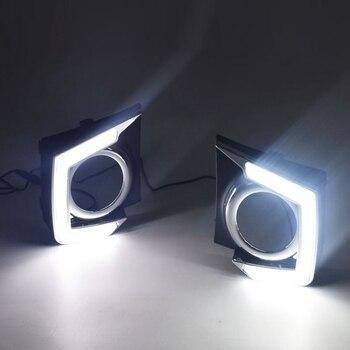Car LED Daytime Running Light for Mitsubishi L200 2015 - 2018 Car Accessories Waterproof Plastic 12V DRL Fog Lamp Decoration