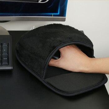DZLST-Alfombrilla de ratón con calefacción USB, para invierno, cálido, puerto USB