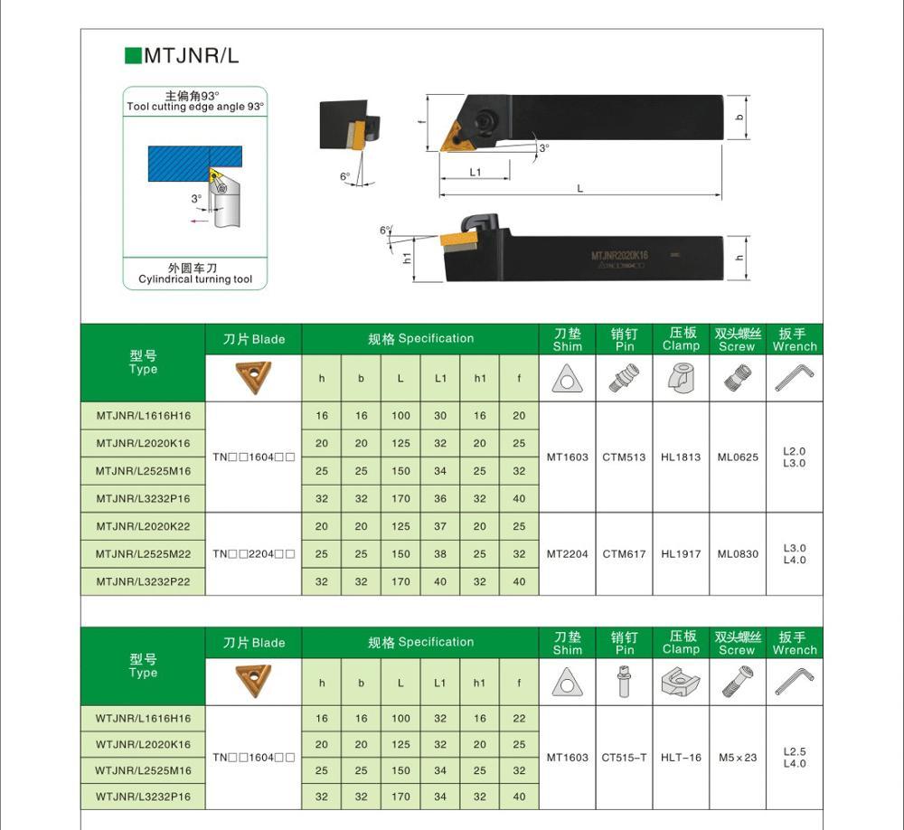 MZG MTJNR2525M16 CNC Lathe Boring Machining Cutter External Turning Tool Holder