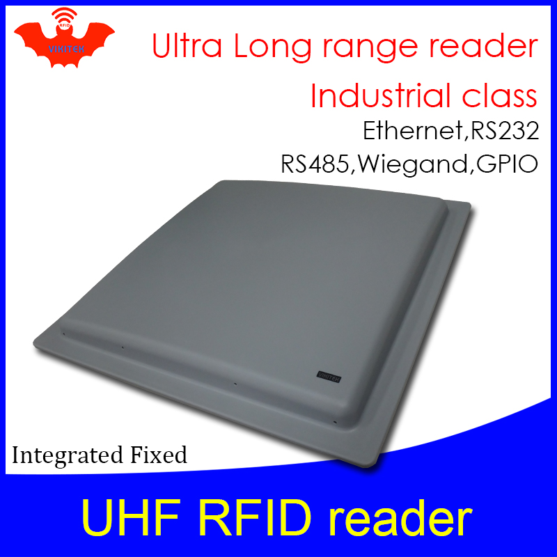UHF RFID reader long range (more than 12m) Integrated VIKITEK for warehouse and Access control wiegand rs232 485 ethernet Reader