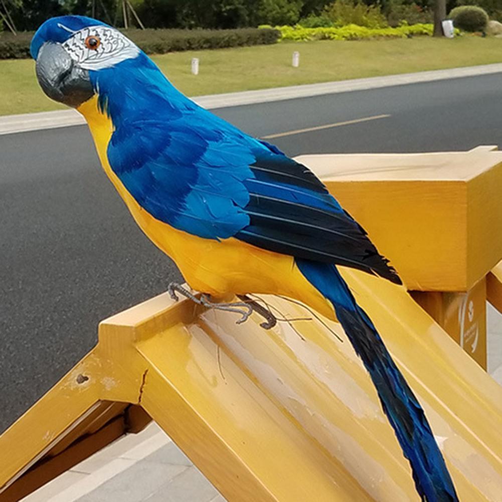 60cm Large Simulation Parrot Ornament Handmade Parrot Bird Foam Feather Lawn Figurine Animal Bird Garden Bird Prop Decoration