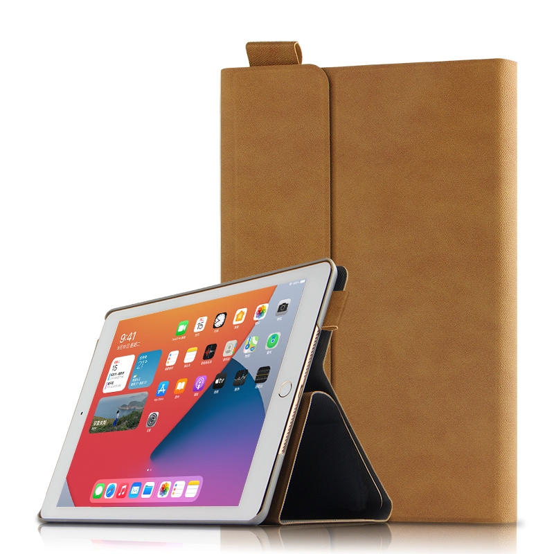 brown Green Smart Case For Apple iPad 10 2 2020 A2270 A2428 Tablet Protective Cover PU Magnetic For