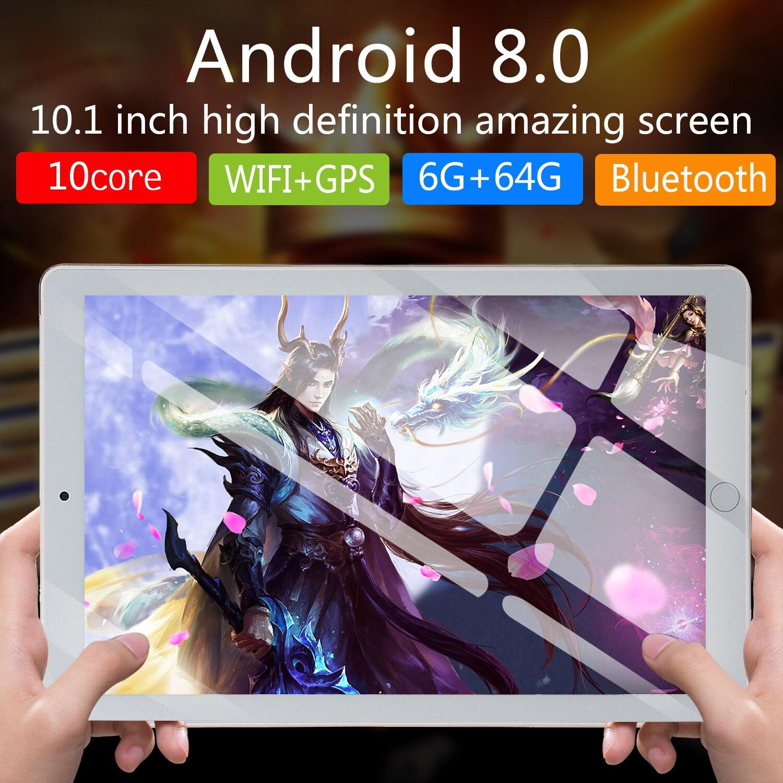 NEW 10 Inch Tablet Pc Octa Core 2019 Original Powerful Android 6GB RAM 64GB  Dual SIM Phone Call Tab Phone Pc Tablets