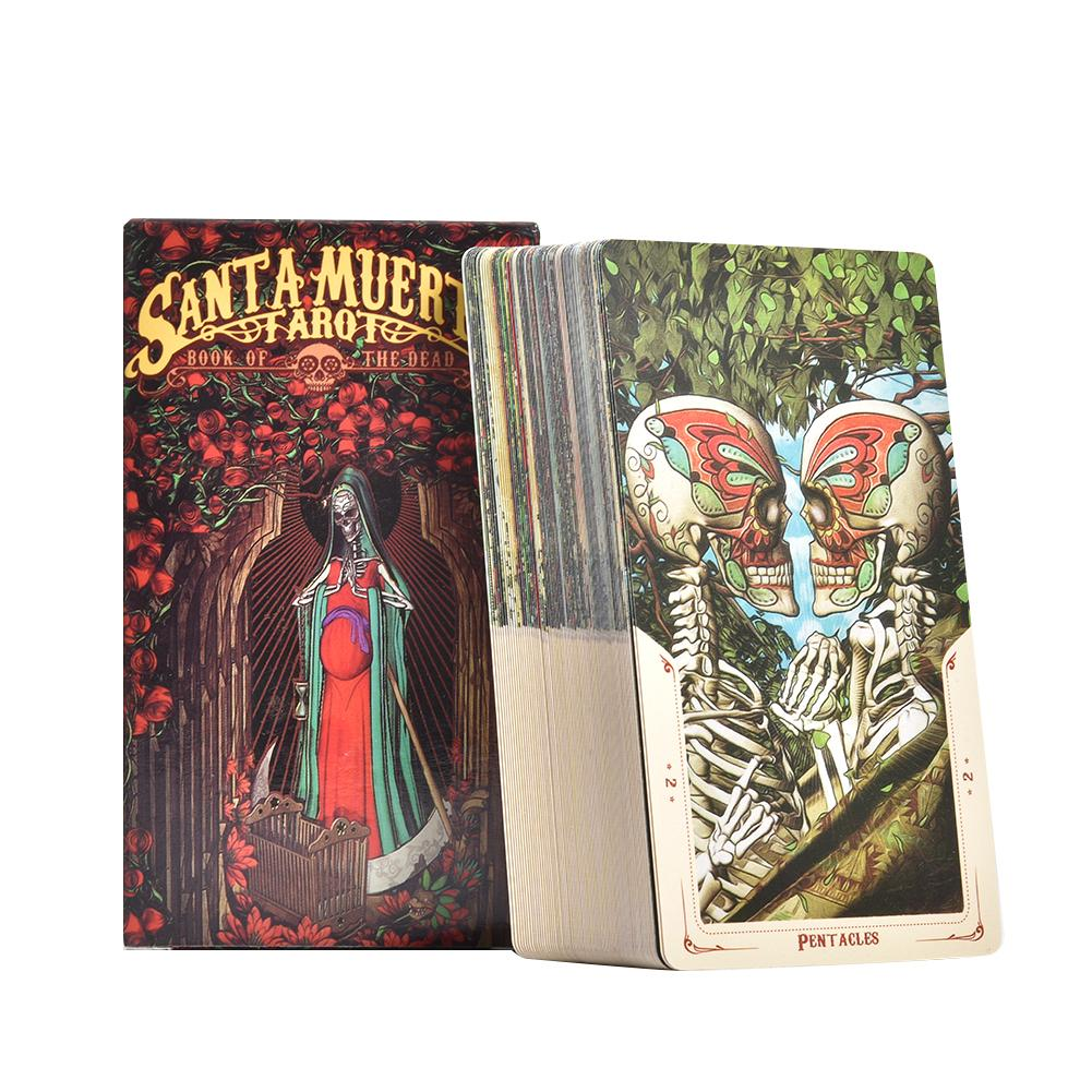 Newest 78Pcs Tarot Cards English Board Game Santa Muerte Tarot Cards Deck For Family Party Entertainment Cards Games