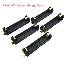 5 pièces 1 * support de pile aaa SMD SMT boîte de batterie avec broches en Bronze bricolage