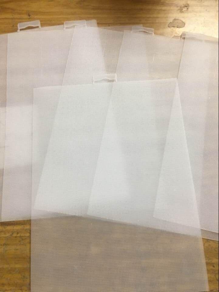 Высокое качество 14CT /7ct прозрачный пластиковый холст ткань для вышивки крестиком орнамент украшения колокольчики,