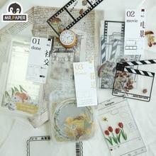 Mr.paper Collage Secret DIY Invitation Greeting Transparent Card with Envelope Handmade Dry Wedding Party Invitation Envelopes