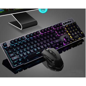 Wireless Gaming Keyboard+Mouse Set with LED Backlight Gaming Backlight 2.4GHz Wireless Keyboard Alloy Panel Suitable for Desktop wireless gaming keyboard mouse set with led backlight gaming backlight 2 4ghz wireless keyboard alloy panel suitable for desktop