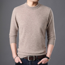 Men Spring And Autumn 100% Cashmere Sweater Warm Mens Knitte