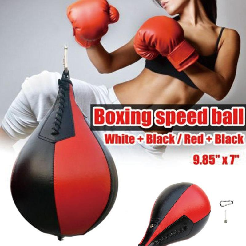 Professional Fitness Boxing Pear Speed Ball Swivel Punching Pera Speedbag Accessory Boxing Boxing Base Training Equipment B A8Y2