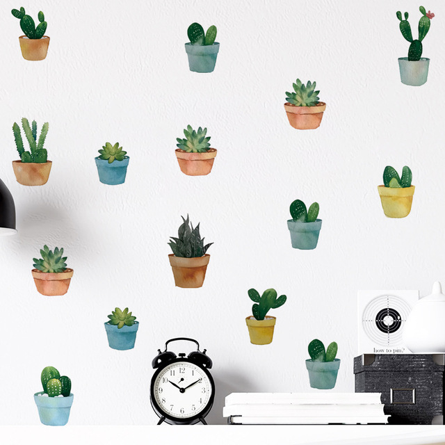 Pot Plant Wall Stickers