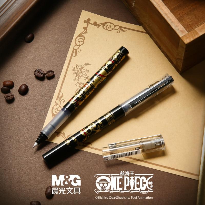 M&G QRP57905 One Piece Straight Liquid Signature Pen 0.5MM Full Needle Tube Black Pen School Supplies Office Supplies Stationery