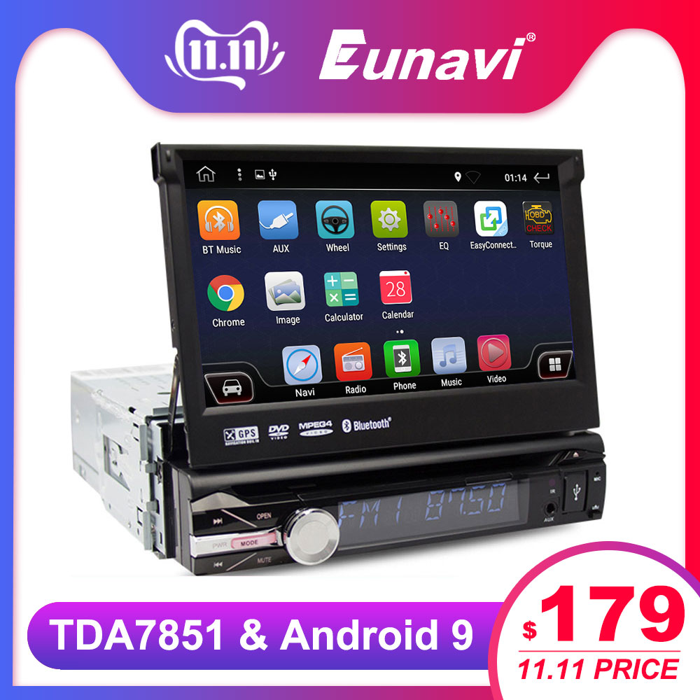 RU Warehouse 1 Din Car Radio DVD Player 7'' Universal GPS Navigation Stereo multimedia touch screen rearview camera TDA7851 image
