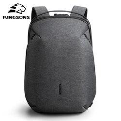 Kingsons homme sac à dos Fit 15 pouces ordinateur portable USB recharge multi-couche espace voyage homme sac Anti-voleur Mochila