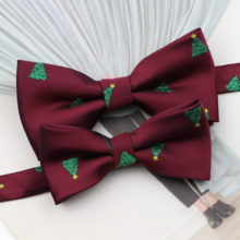 Festival-Accessory Christmas-Bowtie-Set Gift Butterfly Blue New Parent-Child Red Polyester