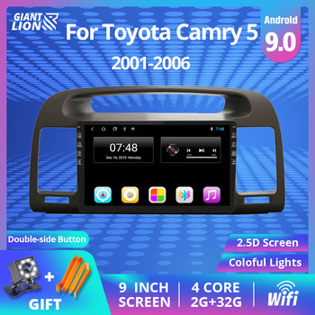 2Din Android 9.0 Car Radio For Toyota Camry 5 XV 30 2001 - 2006 Car Multimedia Video Player Navigation GPS No 2din Dvd Player 2din android 9 0 car radio for toyota camry 5 xv 30 2001 2006 car multimedia video player navigation gps autoradio no 2 din dvd