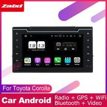 ZaiXi android car dvd gps multimedia player For Toyota Corolla 2016~2019 car dvd navigation radio video audio player Navi Map
