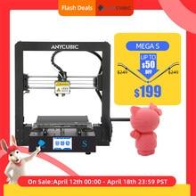Anycúbico mega s 3d impressora i3 mega série atualização completo quadro de metal impressão 3d alta precisão diy 3d impressoras