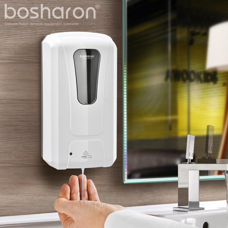 Automatic Soap Dispenser Wall Mounted 1000ml Touchless Disinfectant Alcohol Liquid Hand Sanitizer Dispenser For Bathroom Kitchen