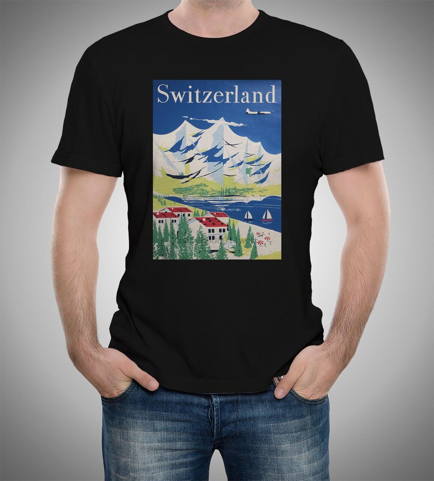 Les compagnies aériennes internationales suisses Int Airlines affiches T-shirt S à 5XL