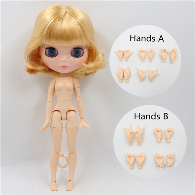 ICY DBS Blyth doll 1/6 bjd toy natural skin shiny face short hair joint body 30cm girls gift special offer 16