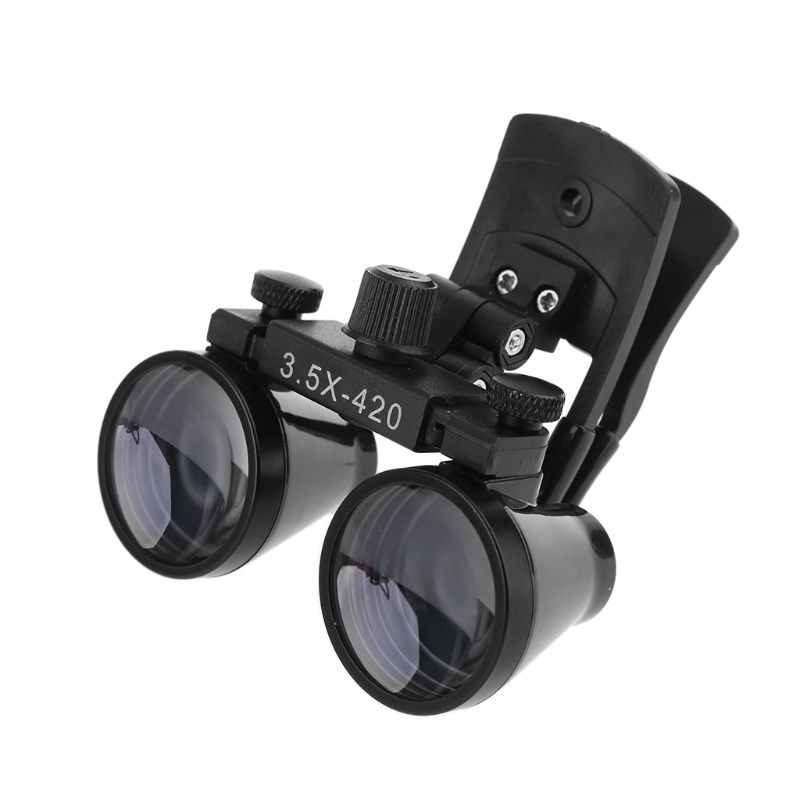 2 5X 3 5X Dental Loupe Binocular Magnifier Dentistry Clip Loupe