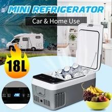 18L Портативный компрессор автомобильного холодильника холодильное интеллигентая(ый) Контроль температуры мини бытовой небольшой холодильник 36W