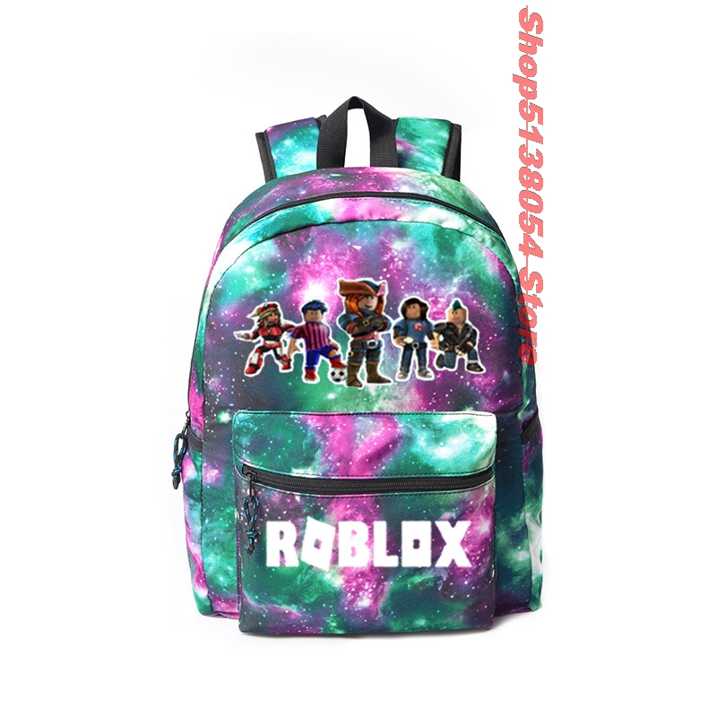 Colorful Starry ROBLOX Cartable Scolaire Kids School Bags For GIRLS Plecak Szkolny School Backpack For Teenager Mochila