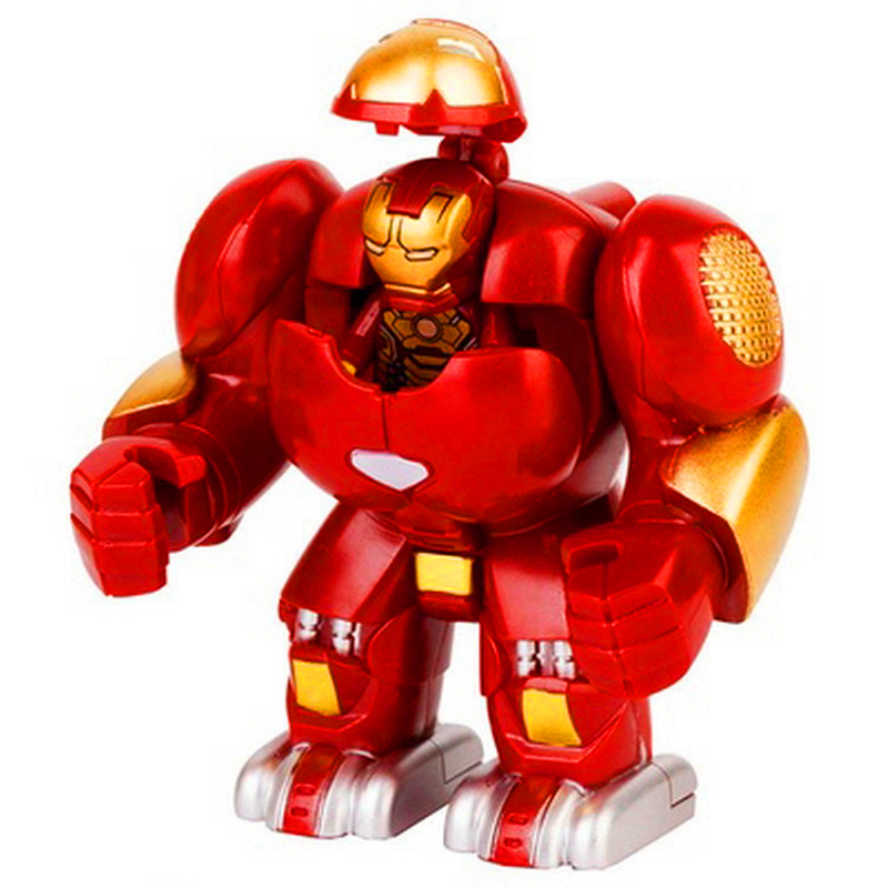 Big Size Locking Iron Man Heros Hulkbusters Figures Model Building Block Toys Constuction Technic Gift For Children