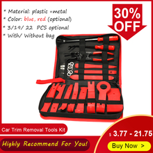 Auto Trim Removal Tools Kit Auto Panel Dash Audio Radio Removal Installer Repair Pry Gereedschap Kit Sluiting Verwijderen met Opslag tas