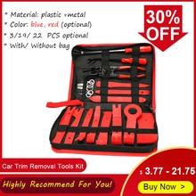 Kit de ferramentas de remoção de guarnição do carro painel automático traço áudio remoção de rádio instalador reparação pry ferramentas kit fastener remoção com saco de armazenamento