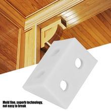 50Pcs/set Corner Angle Brackets Plastic Right L Shape Gusset Brace Code Furniture Hardware