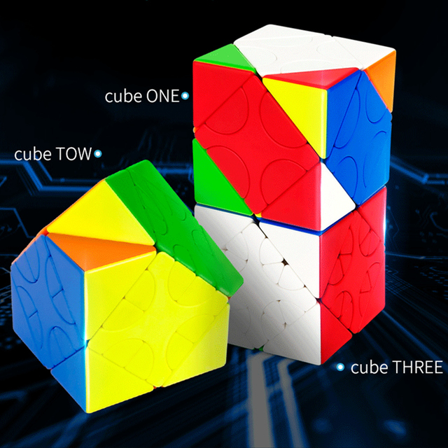 MOYU HunYuan Oblique Turning Cube—1 2 3 2020 New Magic Speed Cube Professional Puzzle Toys For Children Kids Cubo Magico Gift 1