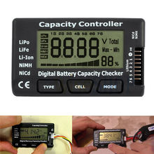 цена на Battery Voltage Tester Checking Tool RC Cell Meter 7 Digital CellMeter Battery Capacity Checker For LiPo LiFe Li-ion Nicd NiMH