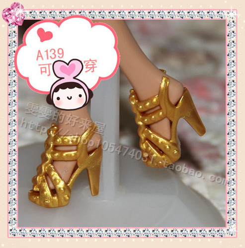 1/6 Doll Shoes Mix style High Heels Sandals Boots Colorful Assorted Shoes Accessories For Barbie Doll Baby Xmas DIY Toy 11
