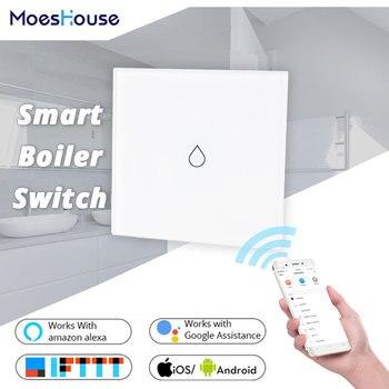 WiFi Smart Kessel Glas Panel Schalter 4400W Smart Leben Tuya App Fernbedienung Wasser Heizung Schalter Arbeit mit Alexa google Hause