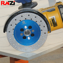 Raizi 100/115/125mm יהלומי ואקום מולחמים חיתוך & טחינת דיסק עבור גרניט השיש כפול צדדי אבן ראה להב